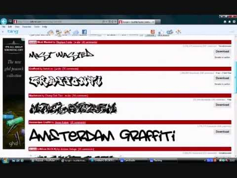 How to download and install fonts to Photoshop CS5