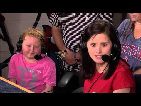 Jessica Raymondi with Dennis & Callahan at 2015 Jimmy Fund Radio-Telethon