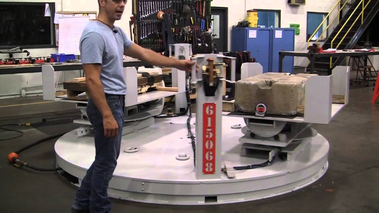 Air Bearing Turntable With Multi Position Tilts Youtube