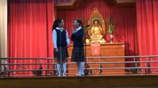 第63屆香港學校朗誦節 小學二人粵語朗誦亞軍  譚咏欣 (6A)、萬芷澄(6A)