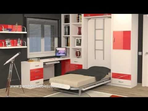 Literas verticales literas horizontales camas abatibles de matrimonio camas plegables youtube - Literas plegables verticales ...