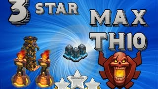 Clash Of Clans | 3 STAR ON A MAX TOWN HALL 10 WITH LVL 11 BLUE WALLS !!