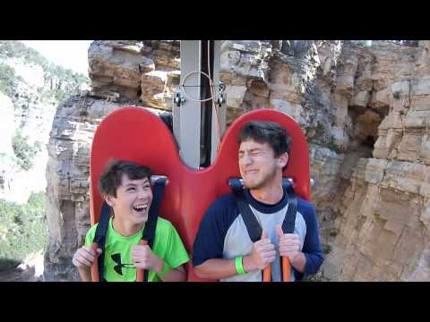 William and Nathan ride the Terror Dactyl!