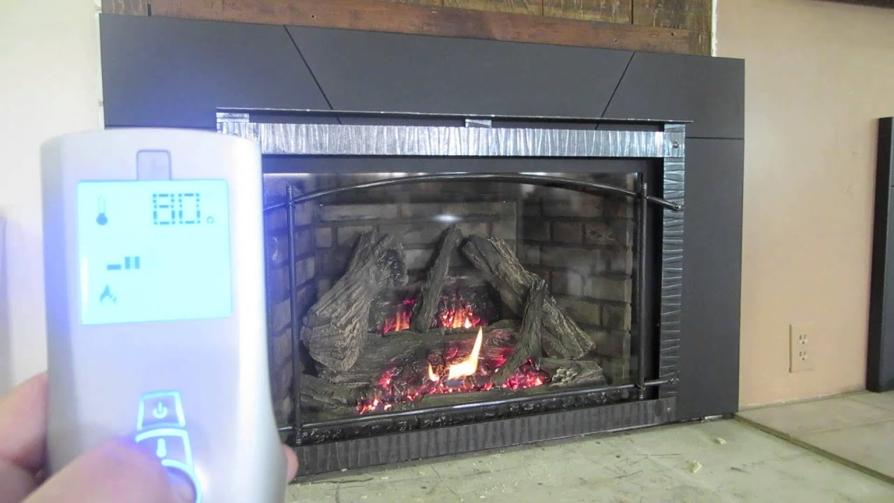 how to use my remote control for my gas fireplace tutorial diy insert direct vent youtube. Black Bedroom Furniture Sets. Home Design Ideas