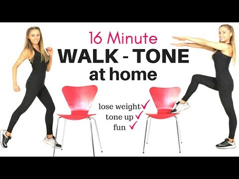 WALK AT HOME  WEIGHT LOSS WORKOUT AND FULL BODY CHAIR EXERCISE - IDEAL FOR BEGINNERS AT HOME WORKOUT
