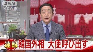 韓国外相が日本大使を異例の呼び出し 一時帰国で・・・(17/01/06)