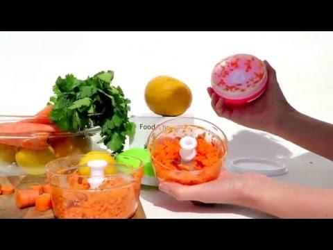 Cookware Mini Food Chopper-Pink- By My Healthy Way Food Processor-Manual Operation-PBA Free Plastic