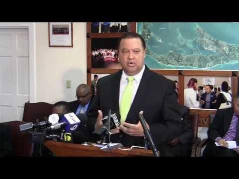 Minister of Business Development and Tourism Wayne Furbert Budget 2012 2013 Bermuda February 24 2012