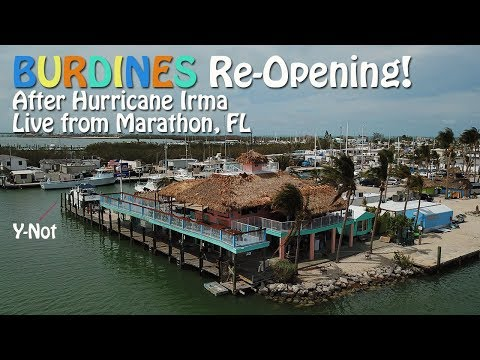 BURDINES Waterfront Re-Opening Post Irma - Live from Marathon, FL!