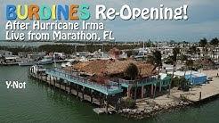 BURDINES Waterfront Re-Opening Post Irma - Live from Marathon, FL!