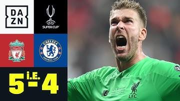 Ersatzkeeper Adrian wird zum Held: Liverpool - Chelsea 5:4 i.E. | UEFA Supercup | DAZN Highlights
