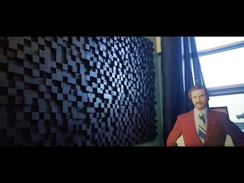 AWESOME DIY 3D Wall Art/Sound Diffuser Panels! Start To Finish!