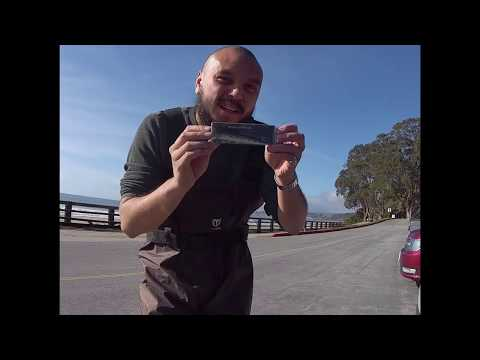 Shore Fishing With Calissa Lure - First Striped Bass From Surf  - Santa Cruz Road Trip