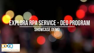 Explora - Integrate RPA DEO Program into Business Process
