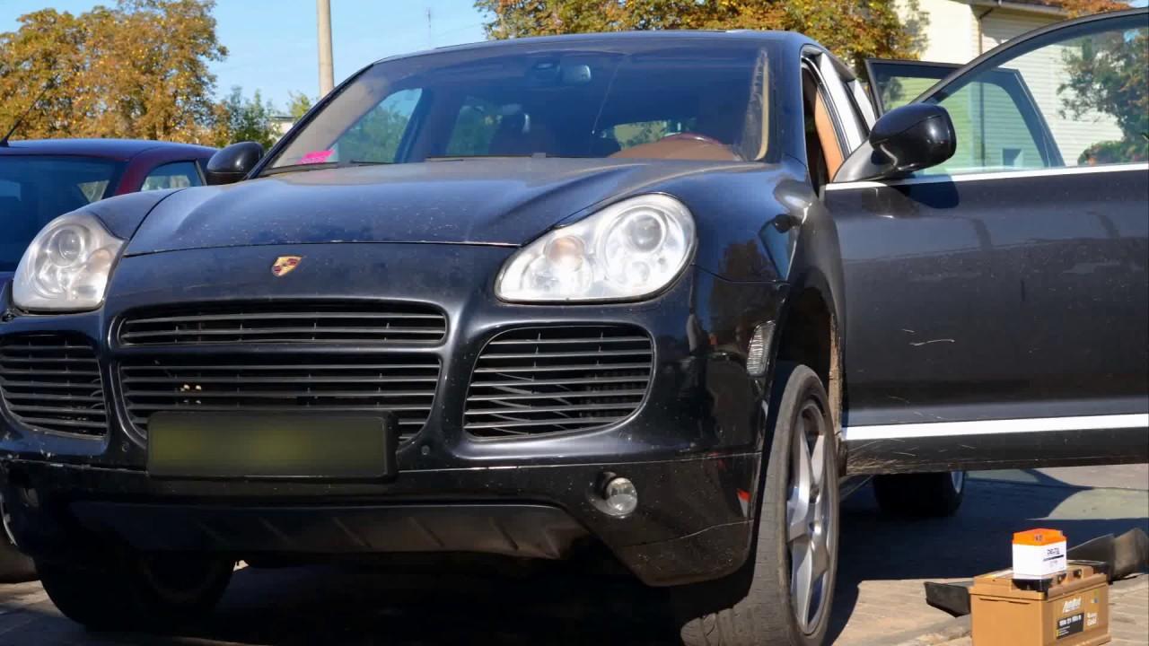 Замена аккумулятора Porsche Cayenne/Volkswagen Touareg/ Audi Q7