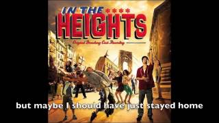 Repeat youtube video Breathe - In the Heights (with lyrics)