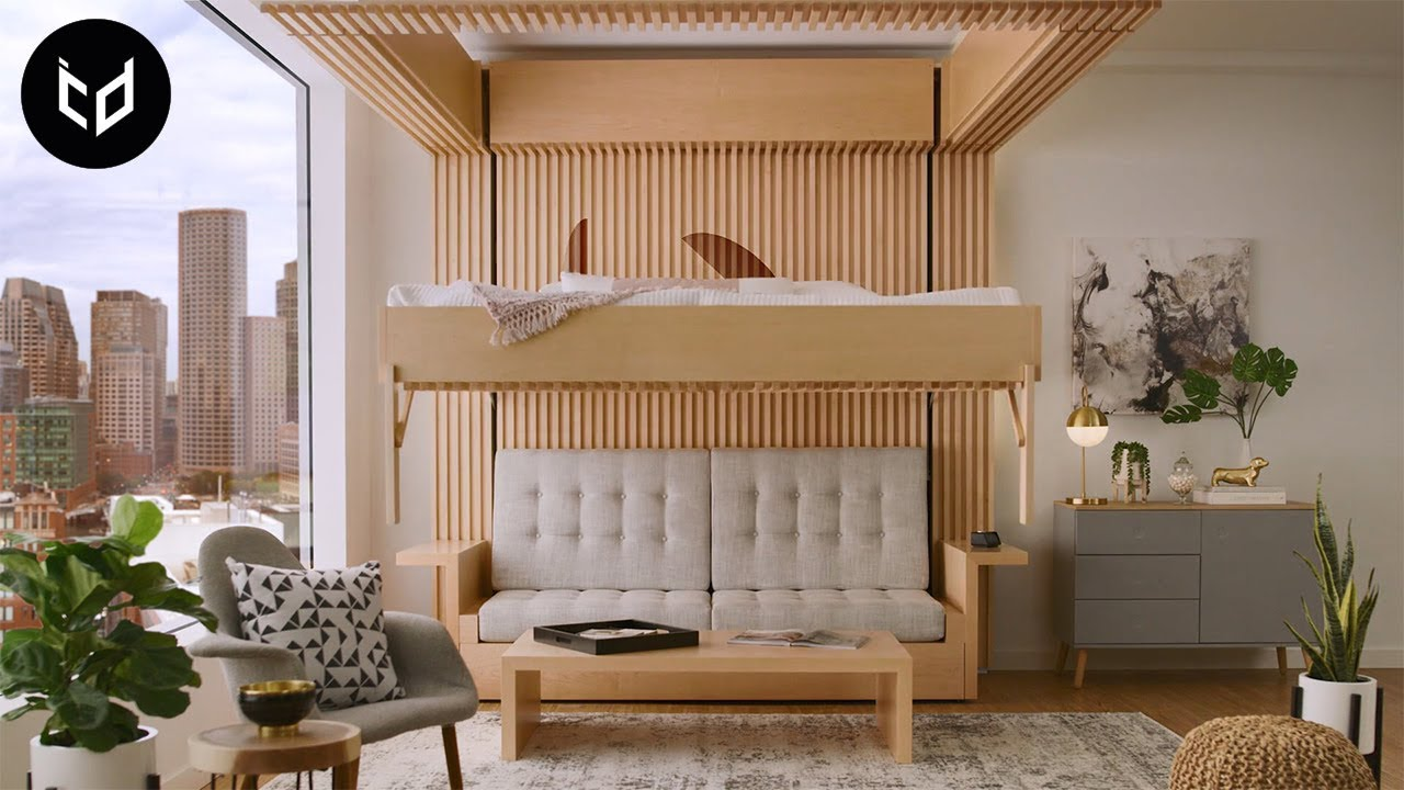INCREDIBLE Space Saving Furniture - Murphy Bed Ideas