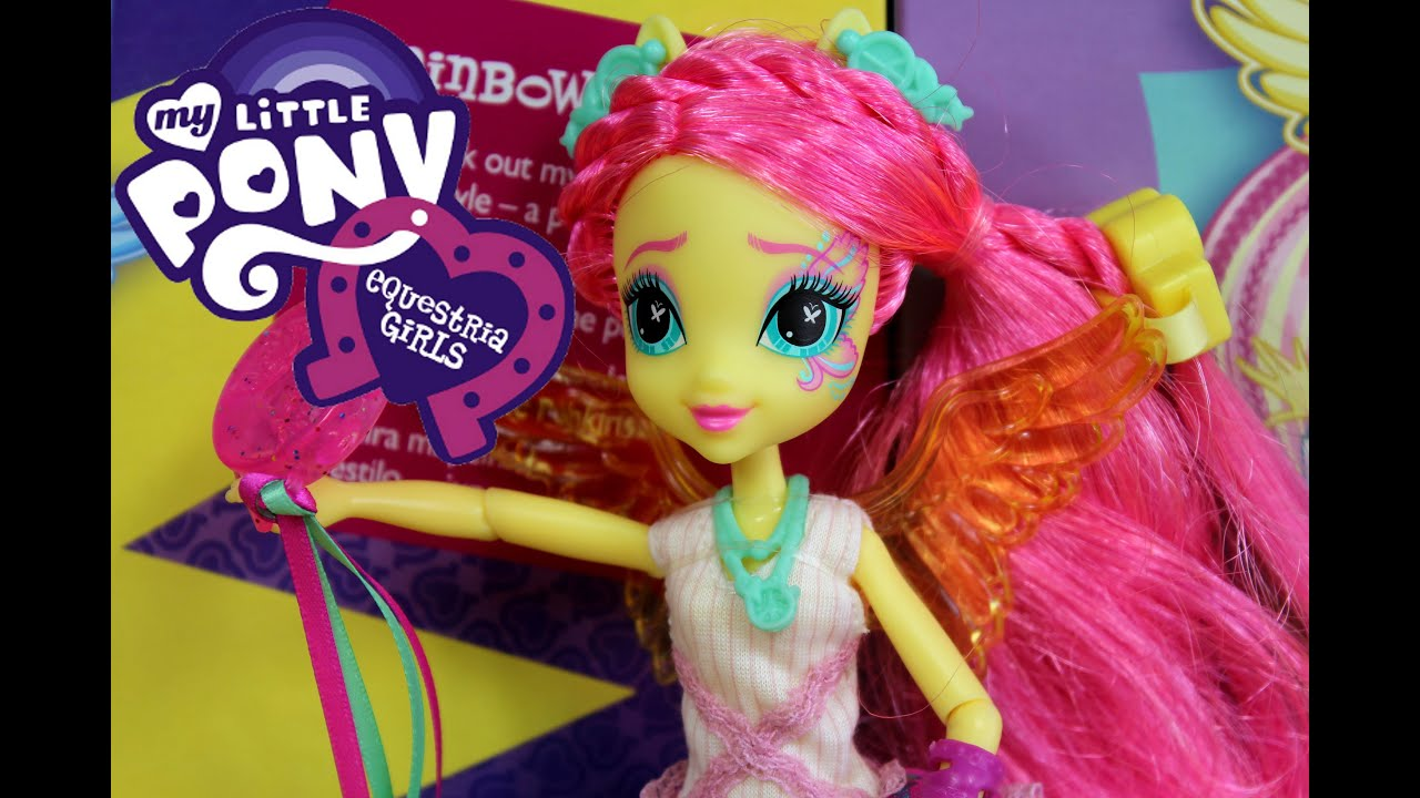 Fluttershy Rockin Hairstyle Doll Rainbow Rocks Equestria Girls - Rockin hairstyles dolls