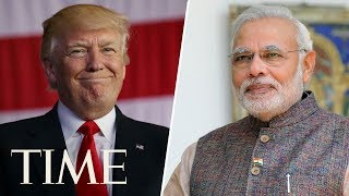 President Donald Trump And India's Prime Minster Modi Give Joint Press Conference | LIVE | TIME