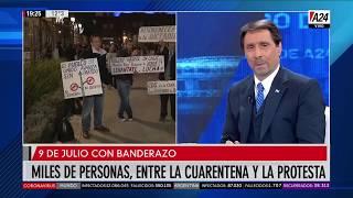Protestas en todo el país en el Día de la Independencia