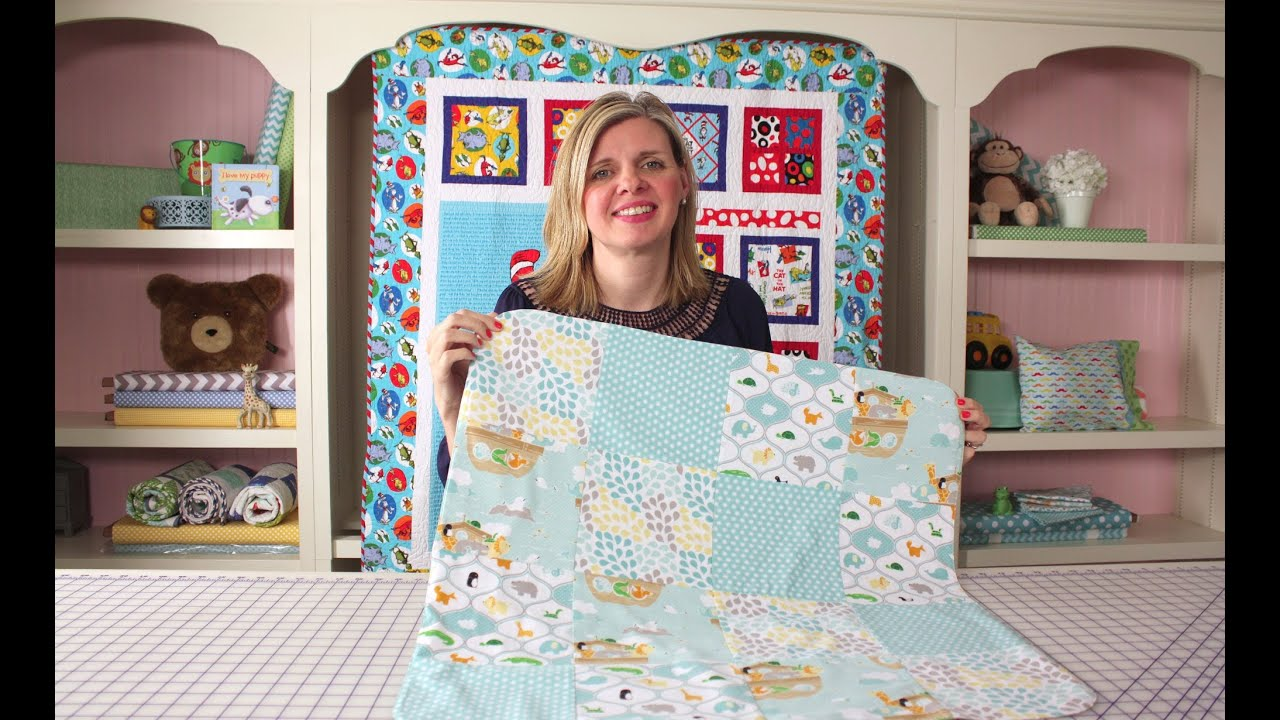 How to Make a Quick   Simple Receiving Blanket DIY Tutorial - Fat Quarter  Shop b48ebb803