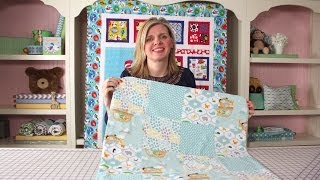 How To Make A Quick & Simple Receiving Blanket Diy Tutorial - Fat Quarter Shop
