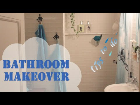 Tiny Bathroom Makeover Tips To Do YouTube - Mini bathroom makeover