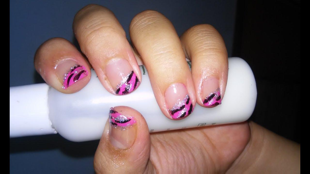 Diseño de uñas french en rosa