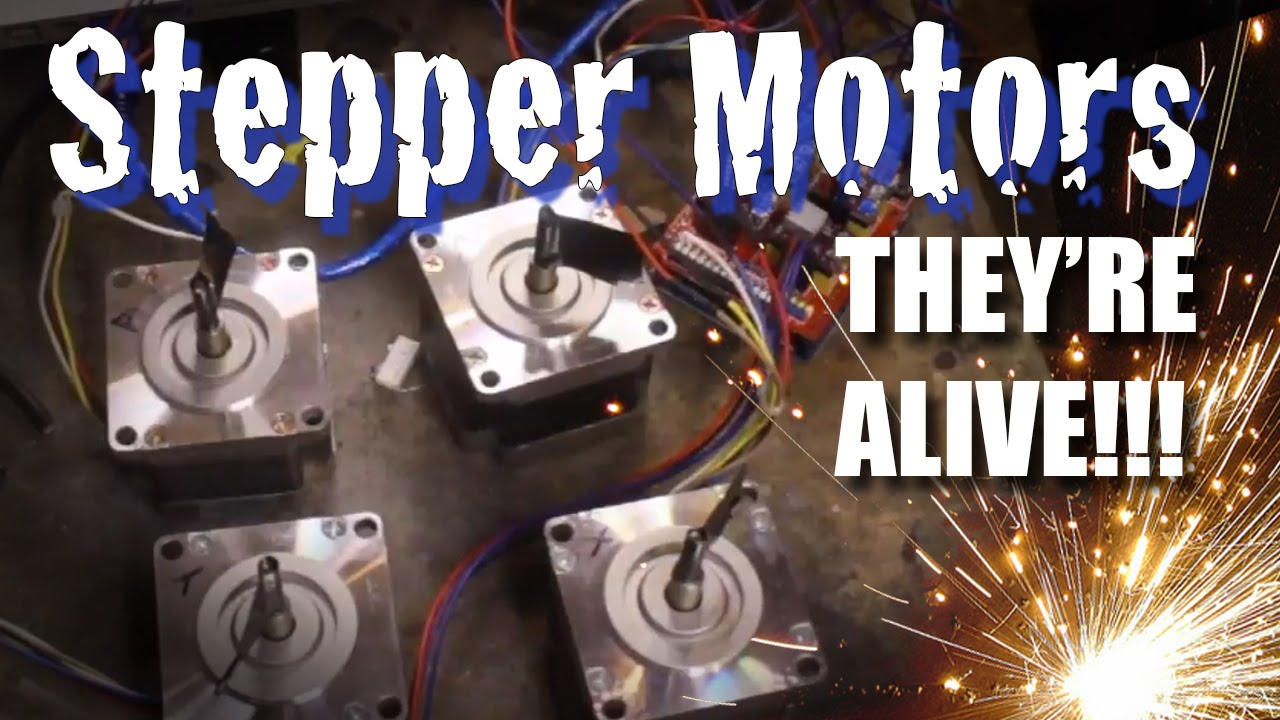 diy cnc stepper motor wiring and test