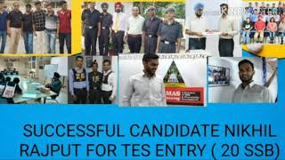 Heading- SSB Tips from Nikhil Singh Rajput , a successful candidate of  TES  Entry