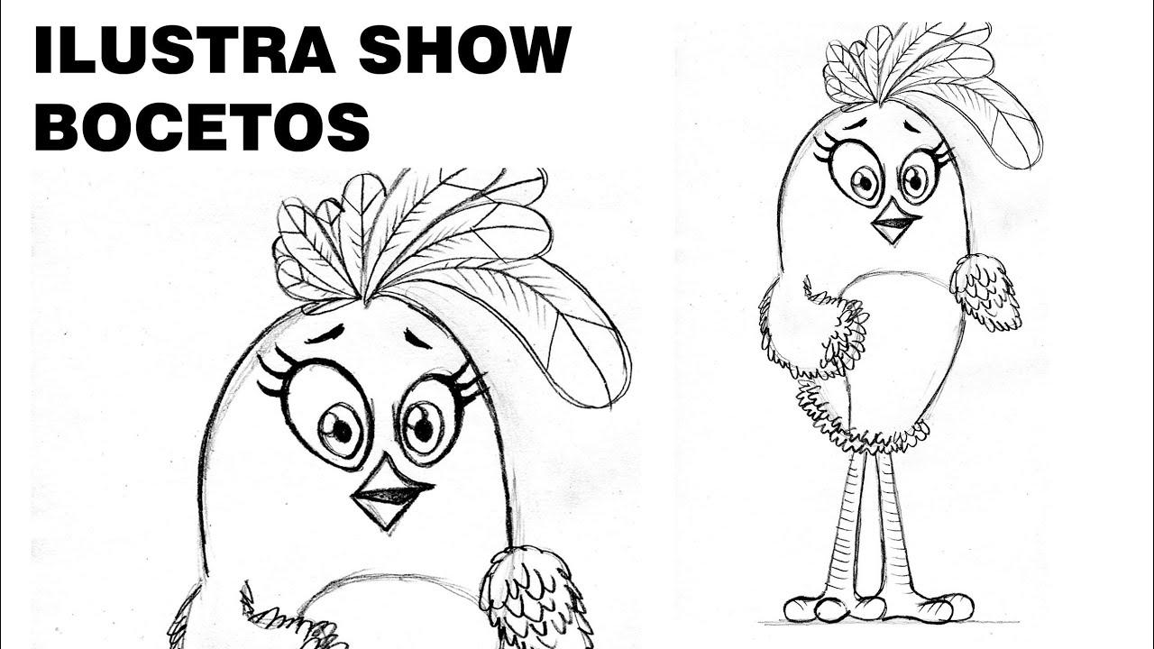 Cómo Dibujar A STELLA De ANGRY BIRDS La Película Tutorial