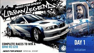 Need For Speed No Limits - Urban Legend Day 1 - BMW M3 GTR - Walk Though - iOS / Android