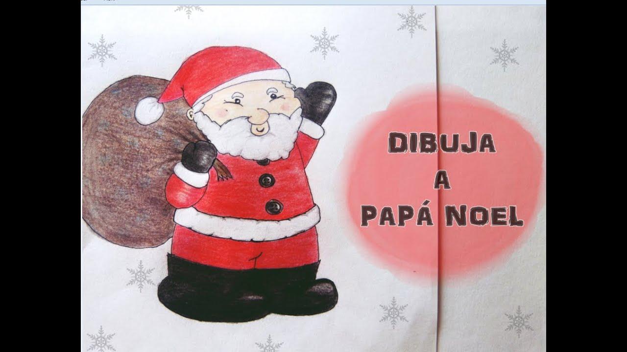 Dibuja a pap noel dibujo f cil para ni os especial - Un santa claus especial ...