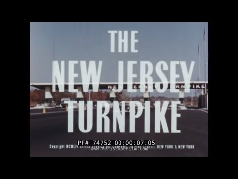 NEW JERSEY TURNPIKE  SUPER HIGHWAY 1950s NEWSREEL  74752
