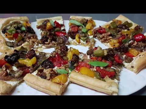 délicieuse-tarte-aux-légumes-façon-pizza-sans-sauce-طورطة-بالخضر-لذيدة-وسهلة