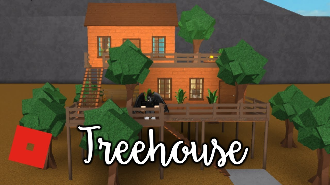 Welcome To Bloxburg Treehouse Speed Build Youtube