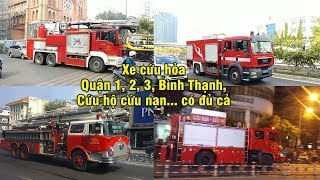 Best compilation of fire trucks, robot engine responded in many district in Sai Gon 2018