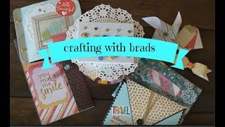 Crafting with brads