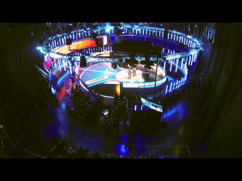 A TV Studio time-lapse of 'Benchmark' - Channel 4 gameshow at MediaCity UK