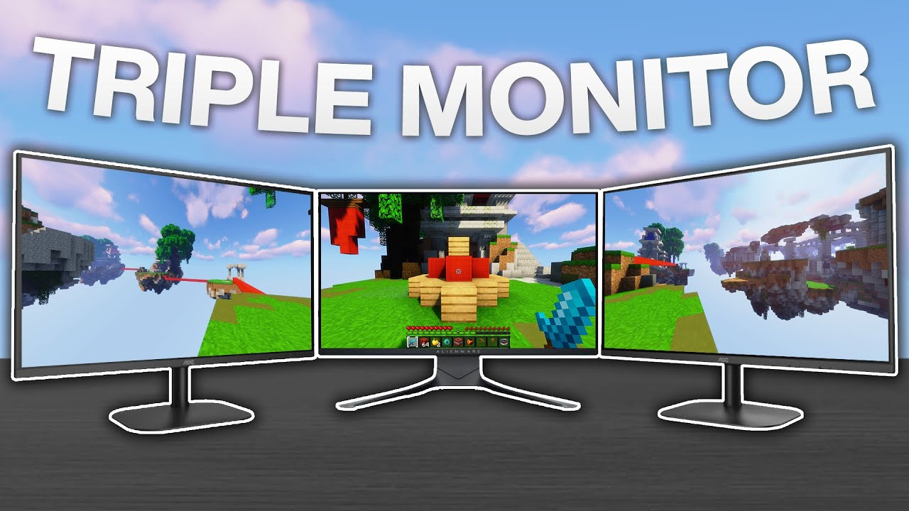 I Played Bedwars With Triple Monitors