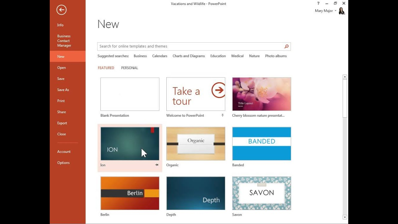 powerpoint 2013 create template