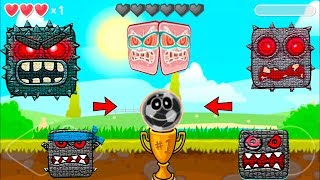 Dangerous Ghost Boss Red Ball 4 is Fun Game Play Adventure
