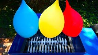 WATER BALLOONS VS FAST SHREDDER!