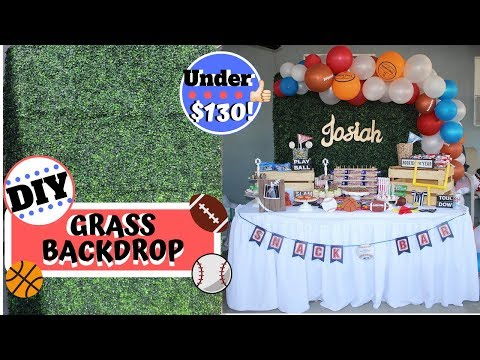 How to build a GRASS WALL/BACKDROP   DIY