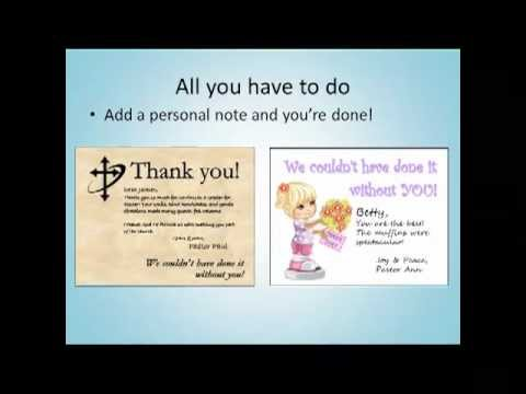 Thank You Cards For Church Volunteers How To Combine Technology