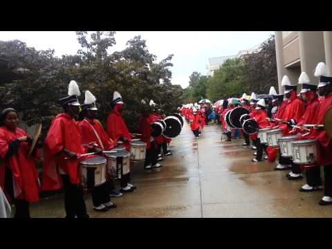 DSU BAND TUNNEL AT HOMECOMING 2013
