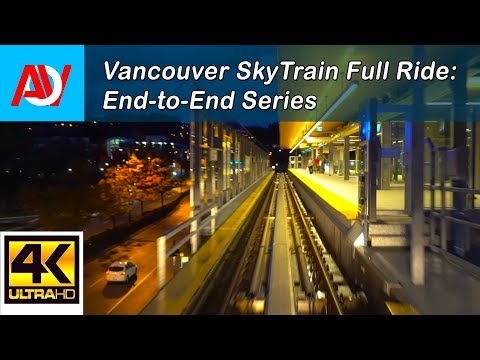 Vancouver SKYTRAIN FULL RIDE: MILLENNIUM LINE EASTBOUND VCC Clark to Lafarge Lake-Douglas End-to-End