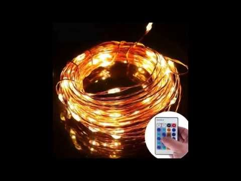 Do Led String Lights Get Hot : LED String Lights, Treecoo Dimmable Copper Wire 33ft 100 LED Starry Light with Remote - YouTube