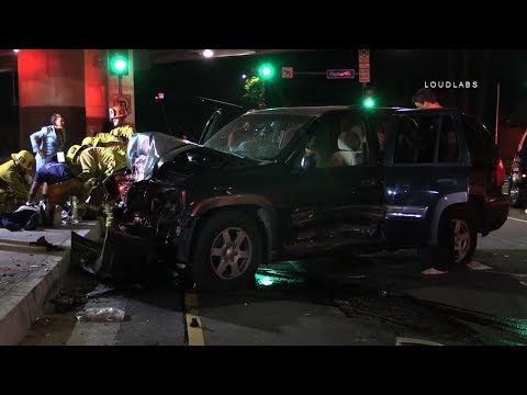 Possible Fatal Crash / Sherman Oaks     RAW FOOTAGE
