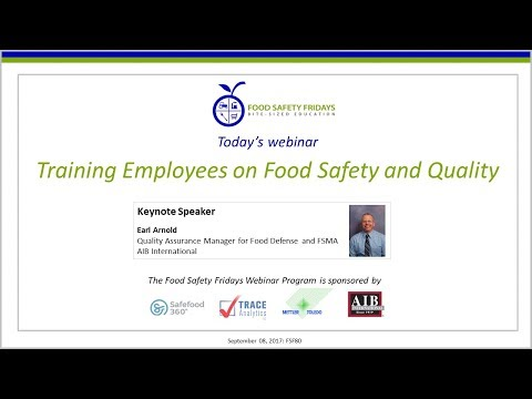Training Employees on Food Safety and Quality